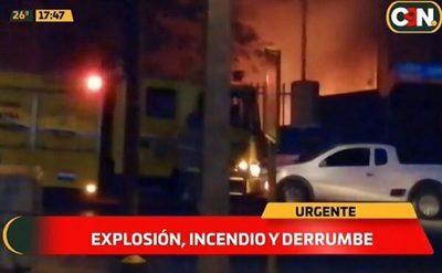 Explosión e incendio en un taller en Villa Elisa