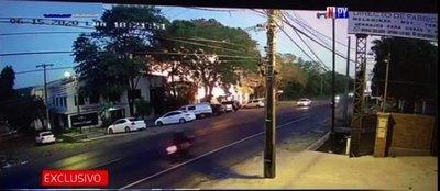 Este fue el momento exacto de la explosión en Villa Elisa
