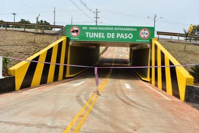 Inauguran túnel de paso bajo nivel en Campo 9