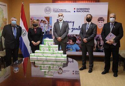 Ministerio de Salud recibe donación de 20.000 tests rápidos para detección de covid-19