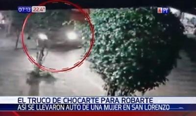 Asaltantes simulan choque para robar vehículos en movimiento