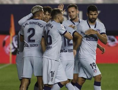 Resumen del partido Osasuna 0-5 Atlético de Madrid