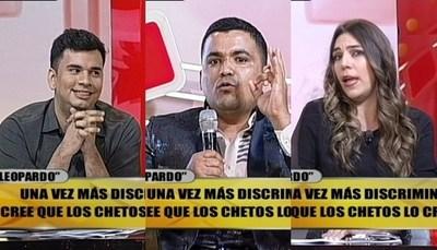 """""""Abogado Leopardo"""" enfrentó a panelistas de """"TeleShow"""""""