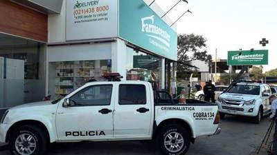 Motochorros asaltan una farmacia en Luque • Luque Noticias