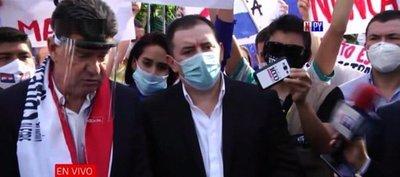 Liberales realizan manifestación sin respetar distanciamiento sanitario