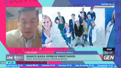 HOY / Enrique Arrúa, gerente comercial del Banco Basa, sobre préstamos para profesionales independientes