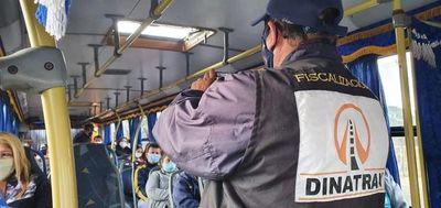 Dinatran multó a dos empresas de transporte por no cumplir con medidas sanitarias