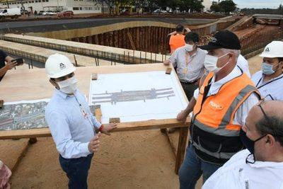 Verifican avance de obras en el Puente de la Integración y el Multiviaducto del Km 7