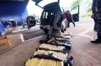 Son 112 kilos de droga que pasaron bajo las narices de las autoridades paraguayas