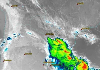 Emiten nueva alerta de lluvias y tormentas eléctricas para centro y sur de la Región Oriental