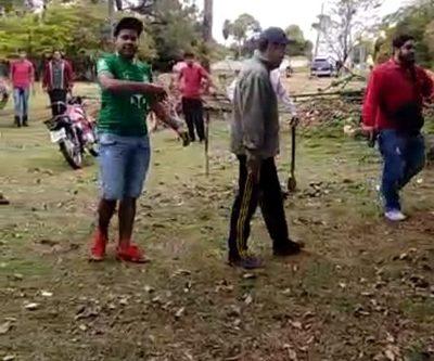 Invasores de propiedad de la Ande en el barrio Don Bosco, armados y belicosos – Diario TNPRESS