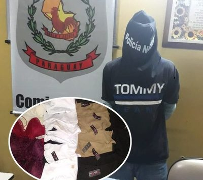 Ladrón es detenido cuando trataba de  escapar con prendas de vestir hurtadas – Diario TNPRESS