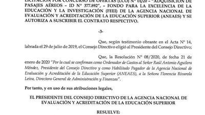 ANEAES planteará una adenda para que dinero de adquisición de pasajes pase el 2021