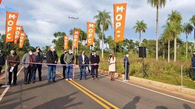 Inauguran nuevos asfaltados que mejoran la conectividad en Central
