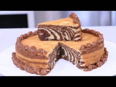 Torta cebra por el cumpleaños de VLT en la cocina de Óscar Pintos
