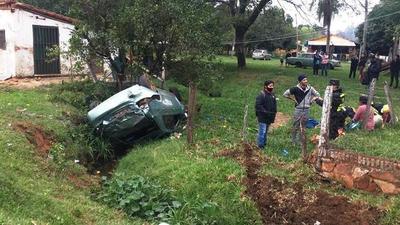 Aparatoso accidente en la ruta Luque