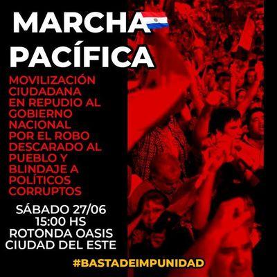 """Convocan a protesta """"contra el robo al pueblo y blindaje a políticos corruptos"""" en CDE"""