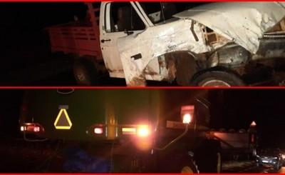 Un muerto tras choque entre una camioneta y una cosechadora