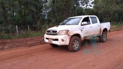Encontraron camioneta que protagonizó persecución en Guavira