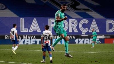 Real Madrid ganó al Espanyol y sigue firme en la punta de LaLiga