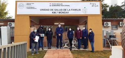 Equipan Unidad de Salud Familiar del Km.7 Monday de Franco