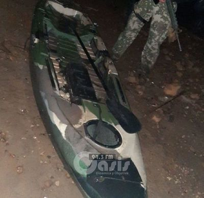 Incautan embarcación tipo kayak en el río Paraná, en Ciudad del Este