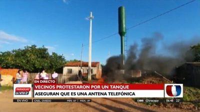 """Vecinos protestan contra """"antena 5G"""" en Concepción"""