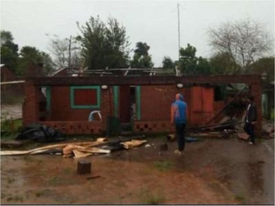 Temporal causa destrozos en algunas zonas de Itapúa