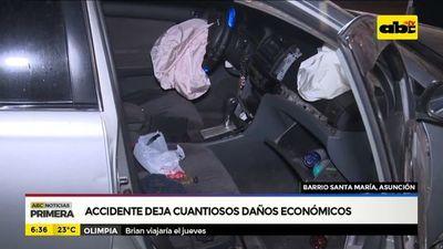 Accidente de tránsito en el barrio Santa María, Asunción