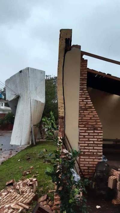 Temporal deja destrozos en el Caaguazú