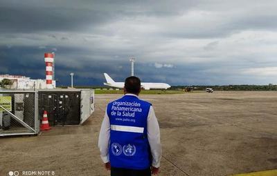 Llegaron 25 toneladas de equipos de protección personal