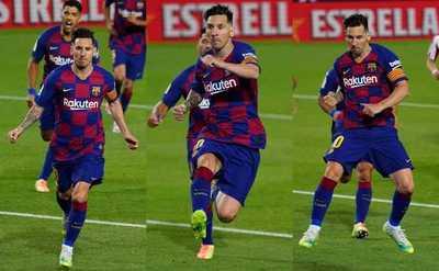 ¡Magistral! El antológico gol 700 de Messi en el empate del Barça
