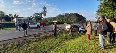 Terrible accidente rutero en Caaguazú