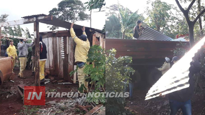 MUNICIPALIDAD DE FRAM ASISTIÓ A FAMILIAS AFECTADAS POR EL TEMPORAL.