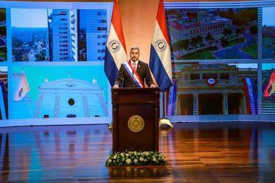 Abdo cita obras públicas en su informe de gestión