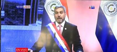 Mario Abdo Benítez presenta su segundo informe de gestión