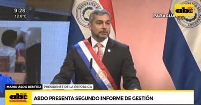 """""""La educación en Paraguay no se detuvo"""", asegura Abdo Benítez"""