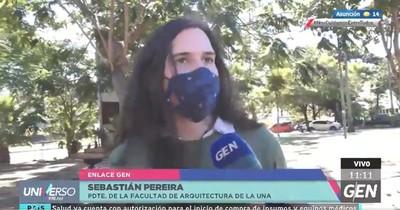 UNA: Estudiantes repudian recorte a presupuesto de becas con manifestación frente al Congreso