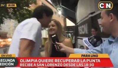 Periodista habla de su blooper con Roque y su esposa