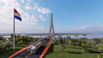 Lanzan esta mañana en Carmelo Peralta la licitación con miras a la construcción del puente bioceánico