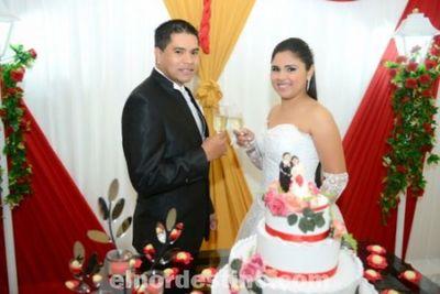 Enlace Matrimonial de Celsa Romero y Jorge Monges en el Salón Devilla Eventos de Pedro Juan Caballero