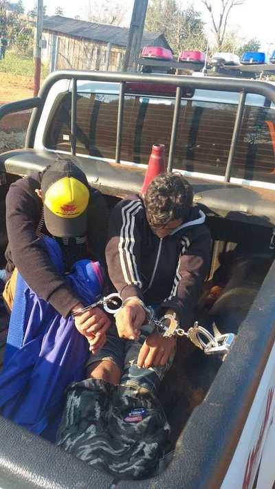 Carneadores de motos detenidos en Puente I