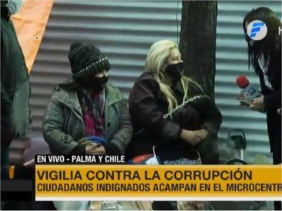 Vigilia contra la corrupción y para exigir renuncia de Benigno López