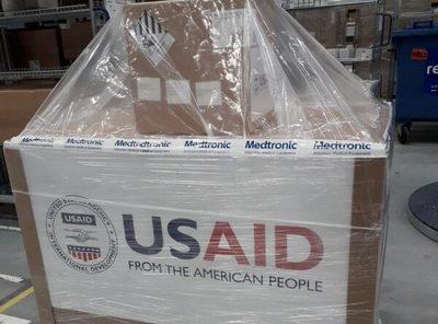 Estados Unidos embarca 50 respiradores para Paraguay