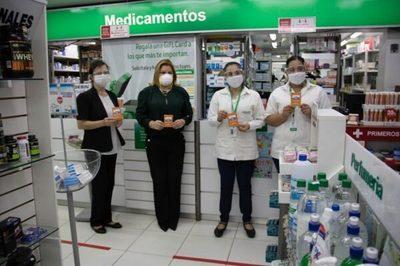 Cadena de farmacia apoya campaña contra la violencia hacia la mujer