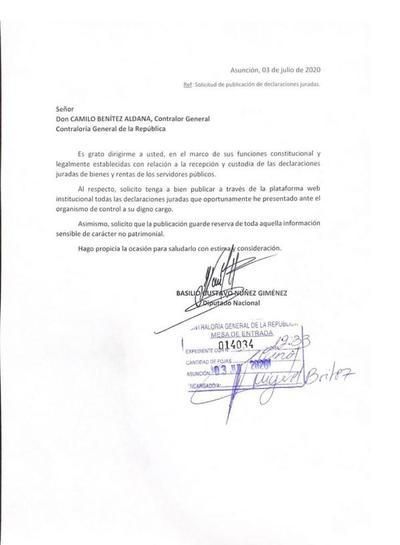 """Diputado """"Bachi"""" Núñez pide a Contraloría publicar su declaración jurada de bienes"""