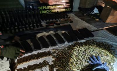 HOY / Otra vez Luque: Incautan armas que estaban para ser enviadas a grupos criminales del Norte