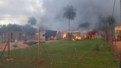 Caravana contra la expropiación de una propiedad de Copaco