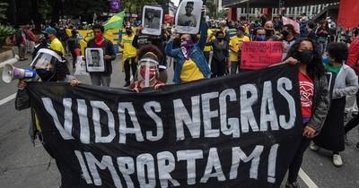 Manifestación contra el racismo y la violencia policial en San Pablo