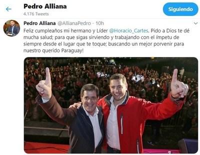 Políticos y amigos saludan al expresidente Cartes por su cumpleaños
